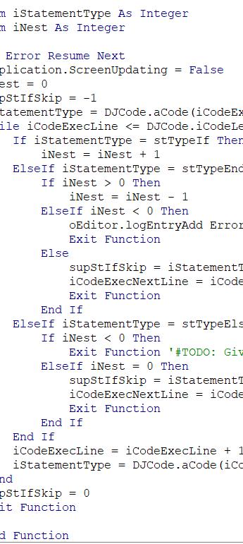 Process Automation VBA code